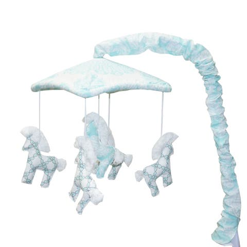 Cotton Tale Sweet and Simple Aqua/Blue Musical Mobile