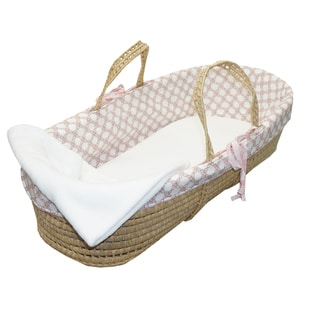 Cotton Tale Sweet and Simple PInk Moses Basket