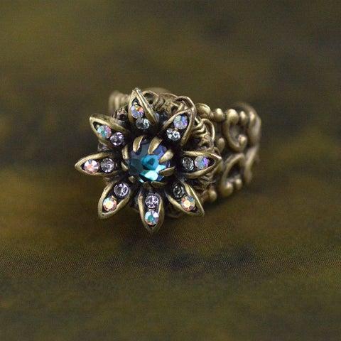 Sweet Romance Bronze Wild Flower Daisy Ring
