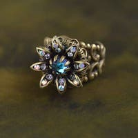 Sweet Romance Bronze Wild Flower Daisy Ring
