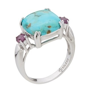 Pangea Mines Turquoise and Rhodolite Garnet Ring (5 options available)