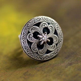Sweet Romance Vintage Celtic Sun and Star Ring