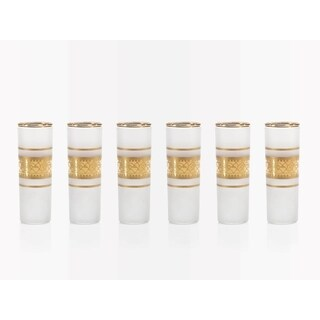 """Melilla"" Shot Glass, Gold Satin (Set of 6)"