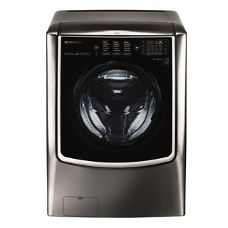 LG WM9500HKA LG SIGNATURE 5.8 cu. ft. Mega Capacity Washer in Black Stainless Steel