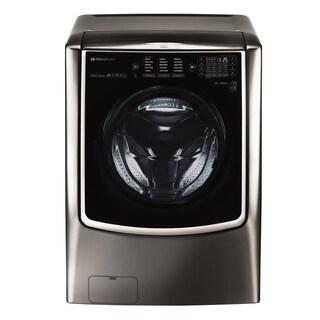 LG WM9500HKA LG SIGNATURE 5.8 cu. ft. Mega Capacity Washer in Black Stainless Steel