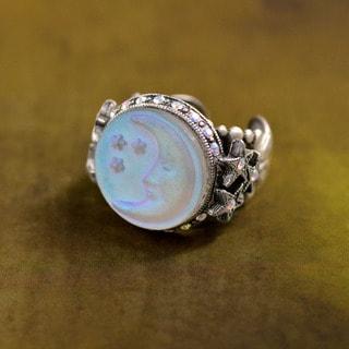 Sweet Romance Vintage Aurora GMoon and Stars Ring