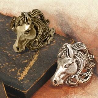 Sweet Romance Mustang Horse Adjustable Ring