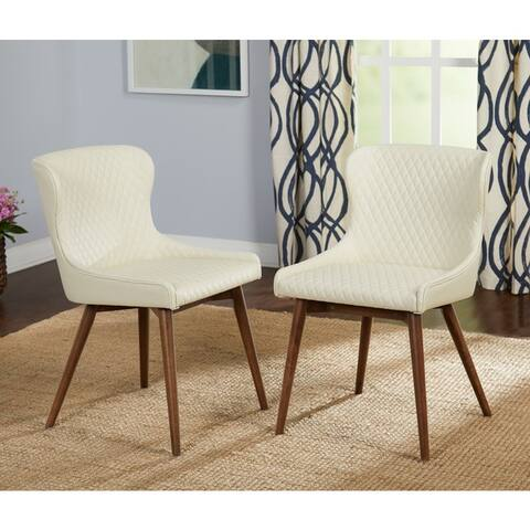 Simple Living Seguro Upholstered Mid-century Dining Chairs (Set of 2)