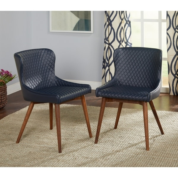 Simple Living Seguro Upholstered Mid-century Dining Chairs (Set of 2). Opens flyout.