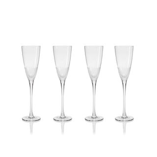 """Vitorrio"" 10.5"" Tall Flutes Champagne Glass, Frosted Design (Set of 4)"