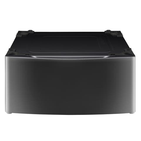 LG WDP4K Laundry Pedestal in Black Stainless Steel