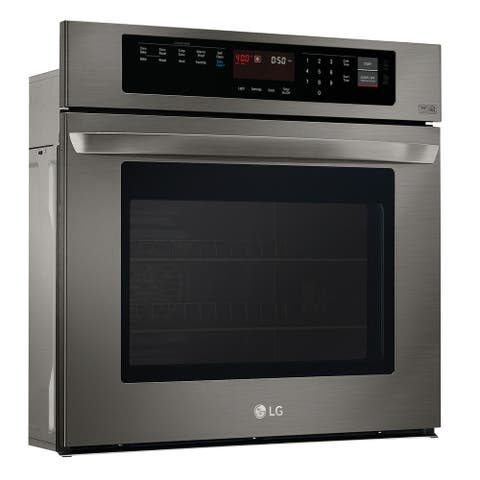 LG LWS3063BD 4.7 cu. ft. Built-In Single Wall Oven in Black Stainless Steel