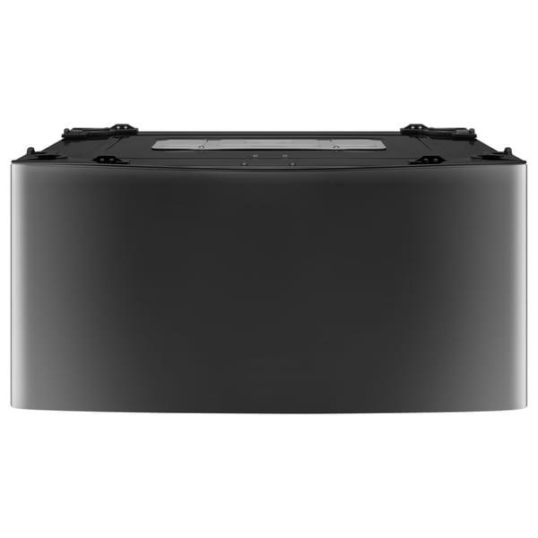 LG WD100CK 1.0 cu. ft. LG SideKick™ Pedestal Washer, LG TWINWash™ Compatible in Black Stainless Steel