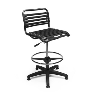 Euro Style Black Bungie/ Nylon Contemporary Drafting Stool