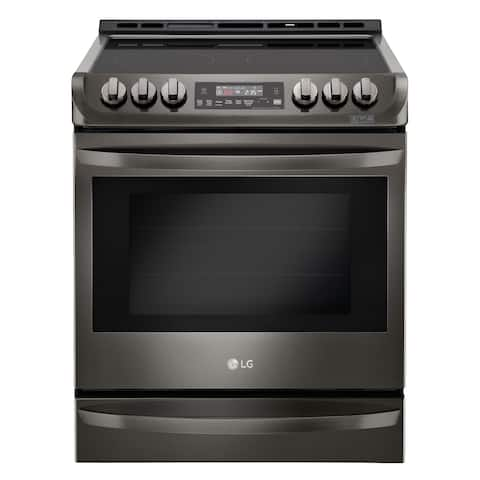 LG LSE4613BD 6.3 cu. ft. Electric Slide-in Range with ProBake Convection® and EasyClean® in Black Stainless Steel