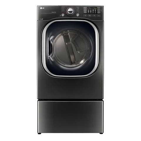 LG DLGX4371K 7.4 cu.ft. Ultra Large Capacity TurboSteam Gas Dryer in Black Stainless Steel