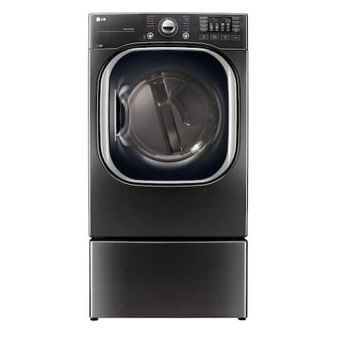 LG DLGX4371K 7.4 cu.ft. Ultra Large Capacity TurboSteam Gas Dryer in Black Stainless Steel