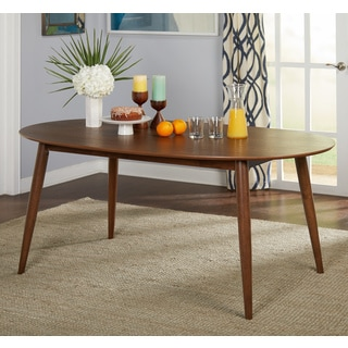 Simple Living Seguro Dining Table   Walnut   N/A
