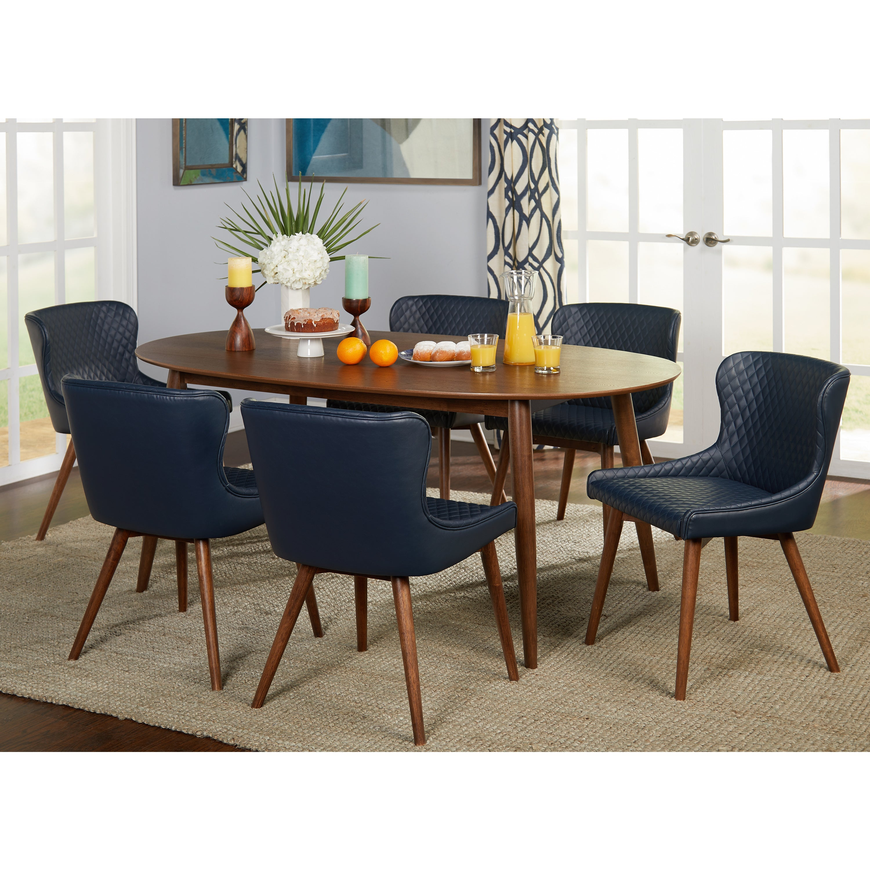 shop simple living seguro dining table walnut on sale free rh overstock com
