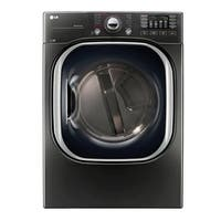 LG DLEX4370K 7.4 cu.ft. Ultra Large Capacity TurboSteam™ Electric Dryer in Black Stainless Steel