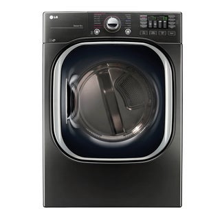 LG DLEX4370K 7.4 cu.ft. Ultra Large Capacity TurboSteam Electric Dryer in Black Stainless Steel