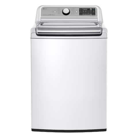 LG WT7500CW 5.2 cu. ft. Mega Capacity Top Load Washer with Turbowash Technology in White