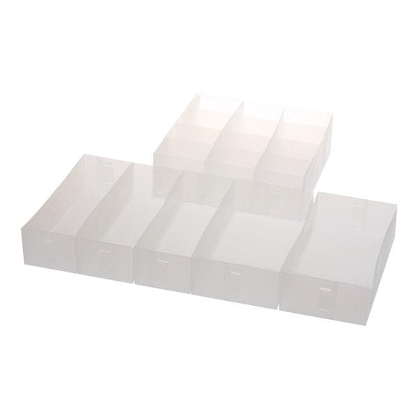 Shop Ybm Home Closet/Dresser Drawer Divider Foldable, Organizer, Cube  Basket Bin 2185 Medium Drawer Organizers Set Of 2   Free Shipping On Orders  Over $45 ...
