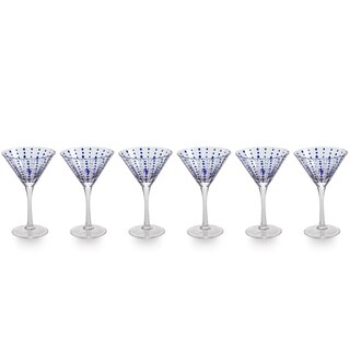7-Inch Tall Mavi Martini Glasses, Set of 4