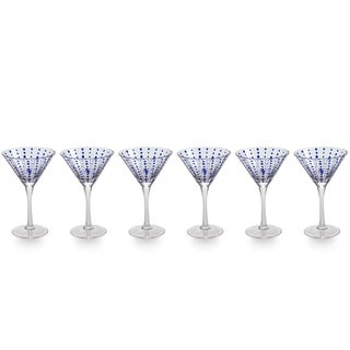 Zodax 7-Inch Tall Mavi Martini Glasses, Set of 4