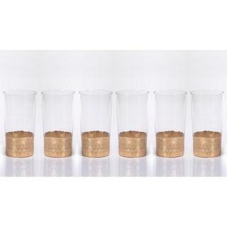 Vitorrio Gold Highball Glass, Set of 6