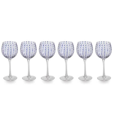 """Mavi"" 8.5"" Tall Goblet Wine Glass (Set of 6)"