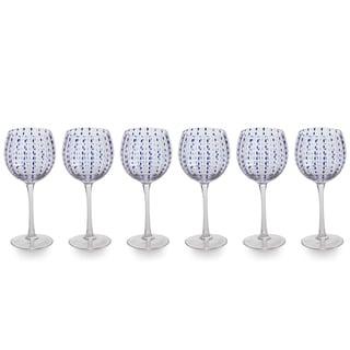 "Link to ""Mavi"" 8.5"" Tall Goblet Wine Glass (Set of 6) Similar Items in Glasses & Barware"