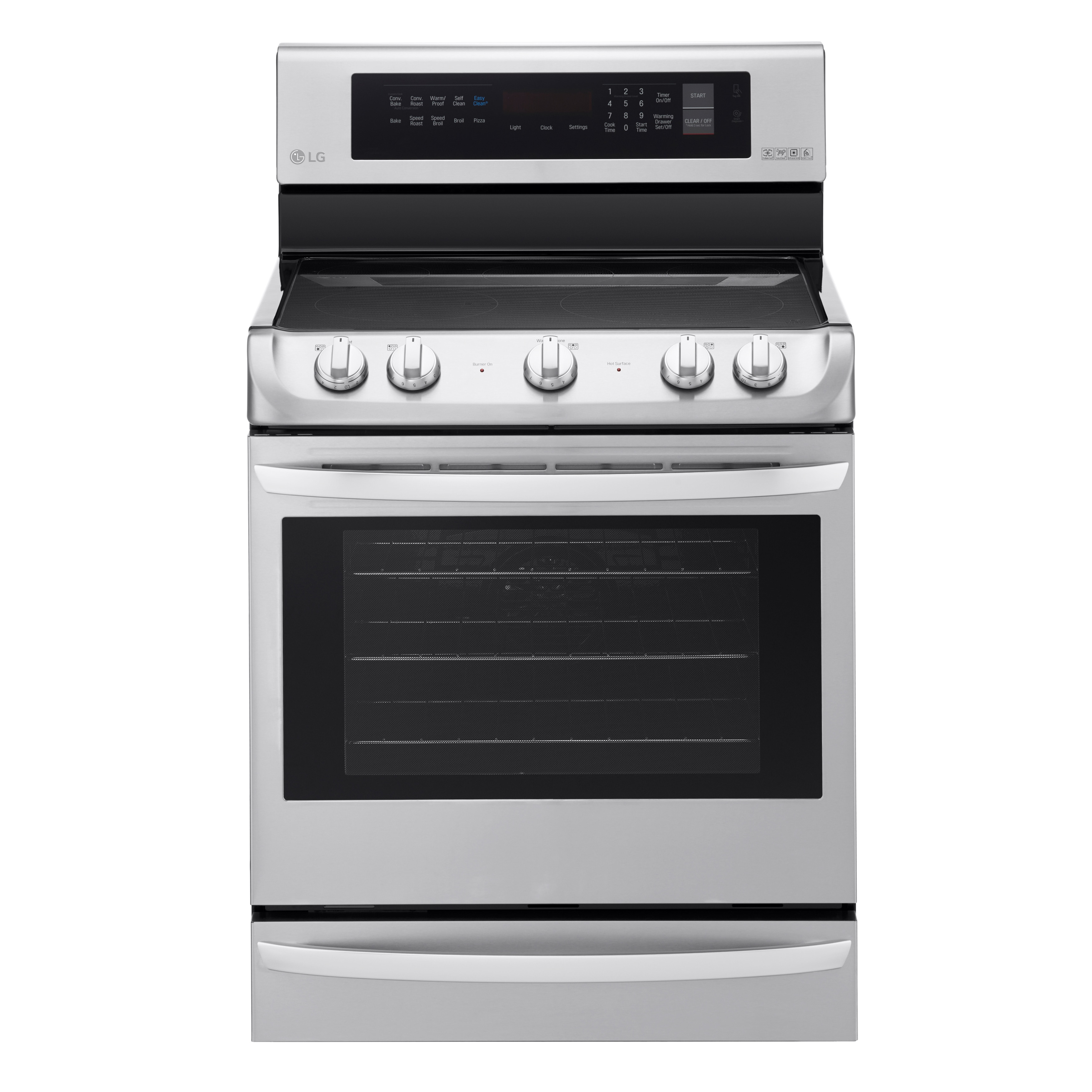 LG LRE4215ST 6.3 cu. ft Electric Single Oven Range with P...