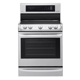 LG LRE4215ST 6.3 cu. ft Electric Single Oven Range with ProBake Convection® and EasyClean® in Stainless Steel