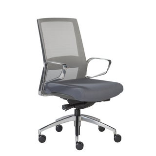 Euro Style Alpha Faux-Leather/ Aluminum Low-back Contemporary Office Chair