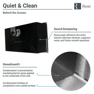 Rene by Elkay R1-1026S-16 Industrial Stainless Steel Rectangular 16-gauge Kitchen Sink with Grid