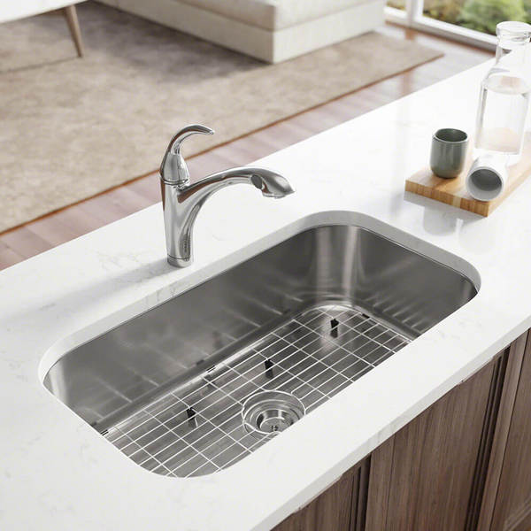 r1 1024c single bowl undermount stainless steel kitchen sink with cutting board grid - Undermount Stainless Steel Kitchen Sink
