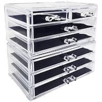 Ikee Design Acrylic Makeup and Jewelry Storage Set