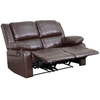 Serenity Classic Brown Leather Loveseat