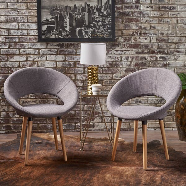 Keegan Modern Fabric Dining Chair Set Of 2 By Christopher Knight Home On Sale Overstock 16687200