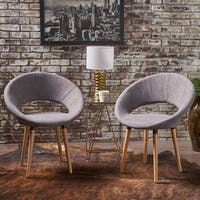 Keegan Modern Fabric Dining Chair (Set of 2) by Christopher Knight Home