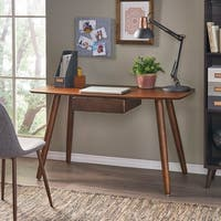 Kiersten Wood Study Table Desk with Overlay by Christopher Knight Home