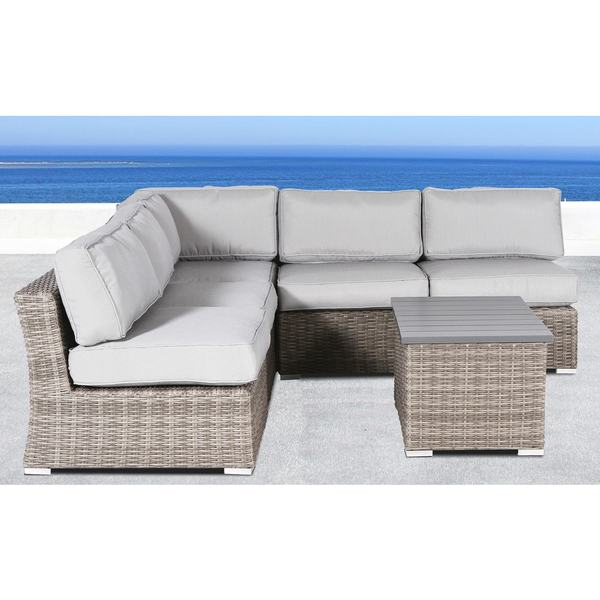 brown set patio source outdoor. Living Source International All Weather Wicker Outdoor Furniture Patio Sofa Set With Cushions Grey 6- Brown A