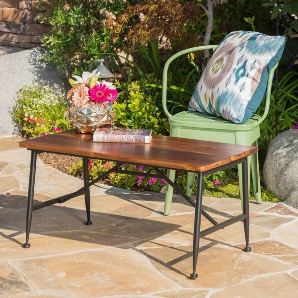 ocala outdoor acacia wood coffee table by christopher home
