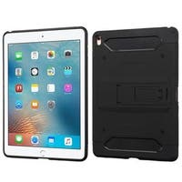 Insten Black Hard Snap-on Dual Layer Hybrid Case Cover with Stand/ Holster For Apple iPad Pro 9.7-inch