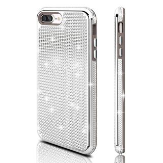 Insten Silver Hard Snap-on Dual Layer Hybrid Diamond Bling Case Cover For Apple iPhone 7 Plus