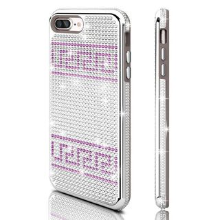 Insten Silver/ Purple Hard Snap-on Dual Layer Hybrid Rhinestone Bling Case Cover For Apple iPhone 7 Plus