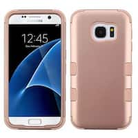 Insten Rose Gold Tuff Hard PC/ Silicone Dual Layer Hybrid Rubberized Matte Case Cover For Samsung Galaxy S7