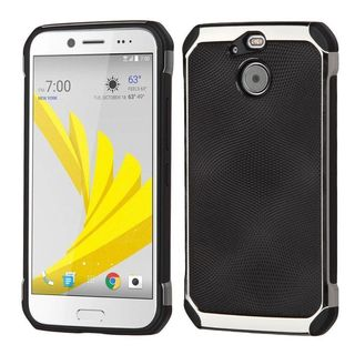 Insten Black/ Silver Hard Snap-on Dual Layer Hybrid Case Cover For HTC 10 EVO / Bolt