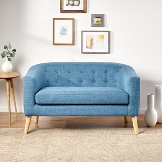 Bridie Mid Century Fabric Loveseat By Christopher Knight Home